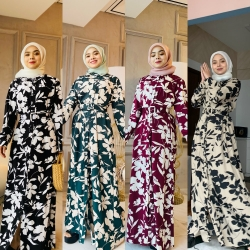 AMANDA (WITH BELT) (PROMO - BUY 2 RM110 @ BUY 4 RM200 - CAN MIX OTHER DRESS)