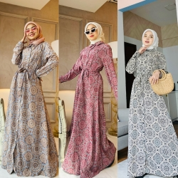 AZZA DRESS (PROMO - BUY 2 RM110 @ BUY 4 RM200 - CAN MIX OTHER DRESS)