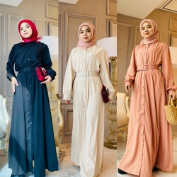 CARRIE DRESS (WITH BELT) ( PROMO PKP - BUY 2 RM110 @ BUY 4 RM200)