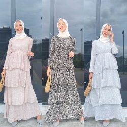 SHAQEERA LAYER DRESS (PROMO PKP - BUY 2 FOR RM150 - CAN MIX OTHER DRESS)